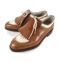 Nike Air Zoom Women's 7.5 Bello Brown & White Golf Shoes Made In Italy - $94.05
