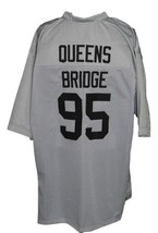 Queens Bridge #95 Shook Ones Hennessy New Men Football Jersey Grey Any Size image 5