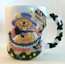 Lefton You Can Never Overgarden Gardener Gift Mug Bear Seeds Trowel Flowers Deer - $9.35