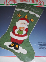 Santa and Deer Quilted Christmas Stocking Stitchery Kit by Bucilla* - $57.40