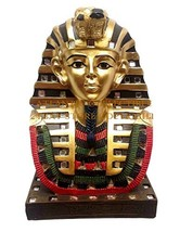 "Ebros Ancient Egyptian Mask Of King Tut Bust Statue 6""Tall Pharaoh Tutan... - $23.93"