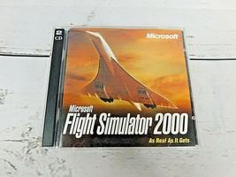 Microsoft Flight Simulator 2000 (PC, 1999, 2 Discs) Game With CD Set Key - $13.25