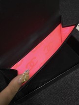 AUTHENTIC CHANEL Rue Cambon Black Hot Pink Lambskin Bi-Fold Wallet Clutch Bag image 7