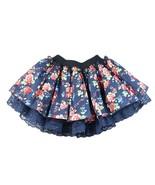 Baby Girls Skirt, Tutu Navy Blue Skirt, Giirls Floral Lace Tutu Skirt Fl... - $11.99
