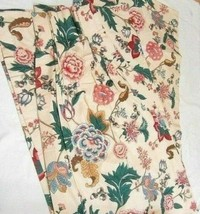 Waverly Country Manor Floral Jewel 2-PC 40 x 80 Lined Pinch-Pleat Draper... - $78.00