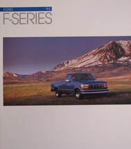 1993 Ford F Series Truck Brochure F-150 F-250 F-350 XL XLT SuperCab - $9.72
