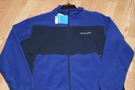 Columbia Breaking Trail Hybrid Fleece Men's Jacket, Full Zipper, XM6261-465, Nwt - $35.19
