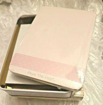 "Precious Moments Blank Note Card Valentines From the Heart"" & Keepsake Tin Box image 8"