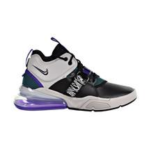Nike Air Force 270 Big Kids' Shoes Light Zen Grey-Court Purple AJ8208-002 - $119.95