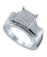 Ladies Mens 0.25CT Real Diamond White Gold Fini... - $257.39
