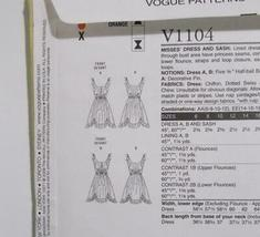 Vogue American Designers Anna Sui V 1104 Dress Pattern Size AA 6-12 Uncut image 6
