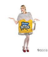 Women's Happy Oktoberfest Beer Mug Costume - Standard - $52.48
