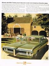 Vintage 1968 Magazine Ad Pontiac Safari Wagon Means 400 cu. in. V-8 Engine - $5.93
