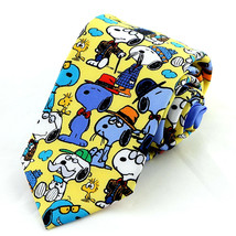 Snoopy Father's Day Men's Neck Tie Licensed Peanuts Dad Gift Yellow Necktie - $29.35