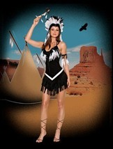 NEW Adult Dreamgirl Tribal Princess Halloween Costume Size S Headdress F... - $23.04