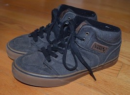 Vans High Tops Blue Denim Skater Shoes/Sneakers 5.5 Youth - $18.99