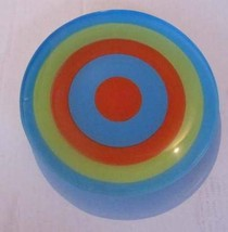 Vintage Hand Painted Collectible Bright Multi-colored Swirl Design Salad... - $23.99
