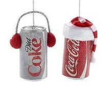 Coca-Cola® and Diet Coca-Cola® Can Ornaments, 2 Assorted w - $9.99