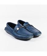 Prada Navy Saffiano Leather Driver Loafers SZ: 8.5 - $150.00