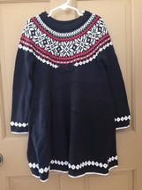 NWT Hanna Andersson Black Girls Snö Happy Sweater Dress Size 5 (110 cm) - $29.99