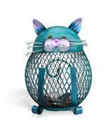 Cute Blue Cat Bank Coin Bank Money Box Figurines  Saving Money box - £17.17 GBP