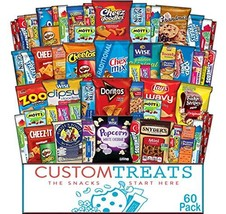 Snack Care Package - Assortment of Chips, Popcorn, Crackers, Cookies, Bars, Cand