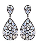 Gemstone 925 Sterling Silver 0.40ct Diamond Dangle Earrings Handcrafted ... - $280.50