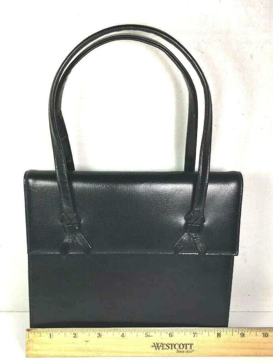 Block True Vintage Small Black Faux Leather Handbag