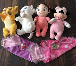 Disney Babies Monsters Inc Doll Security Blanket Plush Stuffed Lot Simba Boo + - $25.40