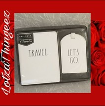 Rae Dunn Passport Cover & Luggage Tag Travel & Let's Go - $16.82