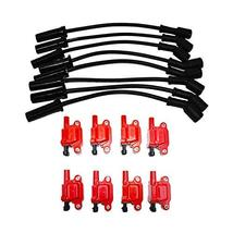 """A-Team Performance D510C Ignition Coil & 11"""" 8.0mm Spark Plug Wires Compatible W"""