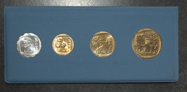 1963 First Trade Coin Presentation Set Israel in Folder Mint Government Printer image 6
