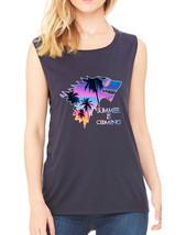 Women's Flowy Muscle Top Summer Is Coming Love Summer Fun - $19.94+