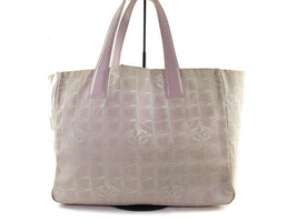 Auth CHANEL Travel line Canvas, Leather Pinks Tote bag CT7154L - $180.00
