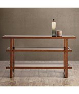 Modern Wood 3 Tier Console Sofa Table with Glass Inserts - Includes Modh... - $284.99
