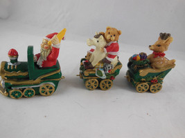 "Smal Christmas Santa Train teddy bears deer horse tree average 2"" each C... - $4.84"