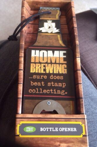 Beer Bottle Shaped: Bottle Opener: DW Brand: Metal & Wood Fathers Day Gift