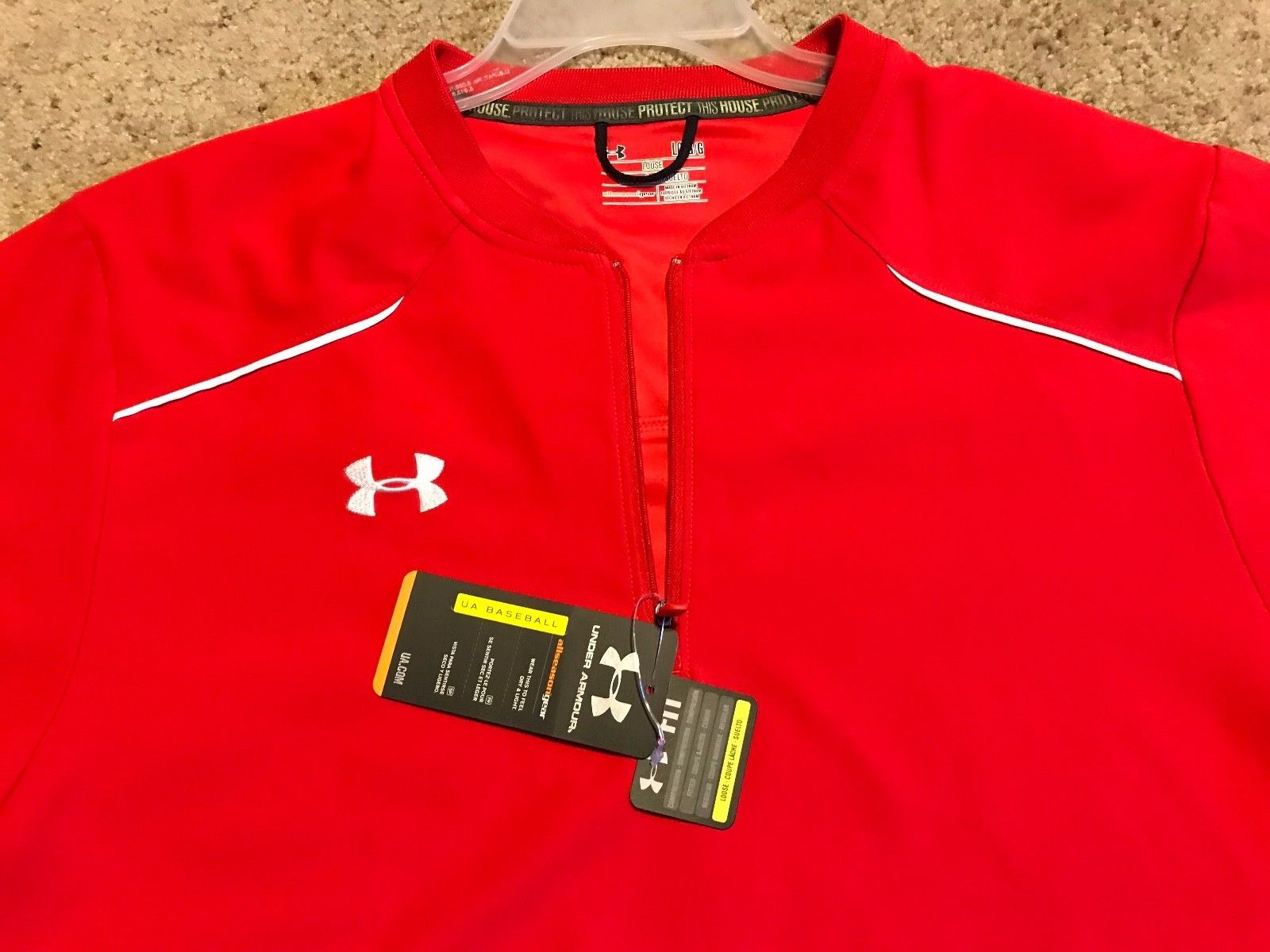 467dfdf1a0 Under Armour UA Baseball All SeasonGear Men's RED Team Ultimate Cage Jacket