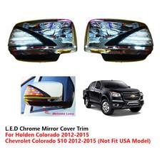 Fitt L.E.D Chrome Mirror Cover Trim For Chevrolet / Holden Colorado 2012 - 2015 - $151.26