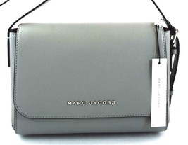 AUTHENTIC NEW NWT MARC JACOBS $250 LEATHER THE COMMUTER STORM GREY MESSE... - $108.00