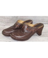 Frye womens Caden Boot Shoes 8 Brown Leather Mules Clogs Western Booties... - $28.00