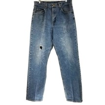 Wrangler Denim Jeans 34x34 Relaxed Fit Naturally Distressed - $13.96