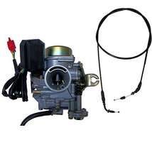 Zoom Zoom Parts 20mm Carburetor Throttle Cable FOR GY6 50 50cc Scooter M... - $39.50