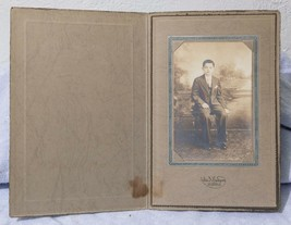 Vintage Cabinet Card Photograph John Rodgers Pittsburgh Boy on Chair mv - $12.86