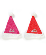 18 Inch Tinsel Fabric Hat W Plush Trim And Tiara  2 Colors/Case of 36 - $183.80 CAD