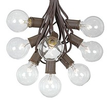 G50 Globe Outdoor String Lights With 125 Clear Globe Bulbs By Novelty Li... - $106.12