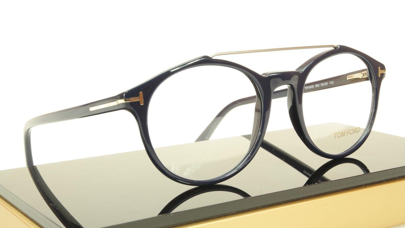 Tom Ford Authentic Eyeglasses Frame TF5455 090 Dark Navy Blue Italy 52-20-145 image 5