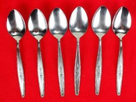 "6X Teaspoons Spoons Stylecraft SYF2 Stainless Satin Flatware 6 3/8"" Tea ... - $71.28"