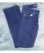 American Eagle Womens Straight Jeans Size 4 Long Dark Wash (A14) - $19.80