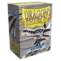 Dragon Shield Silver Card Protector Sleeves 100ct MTG Magic Pokemon ATM1... - $11.99